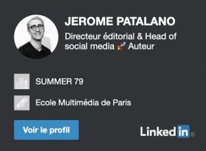 Jérôme Patalano sur Linkedin